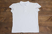 Детская подростковая летняя футболка-поло George для девочки белая р.158/164