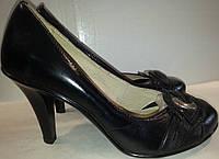 Туфли женские натуральная кожа р37 REY черные BOGI