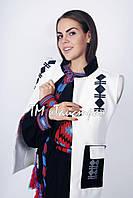 Пальто - жилетка женское с вышивкой