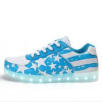 Светящиеся LED кроссовки LEDKED USA Blue