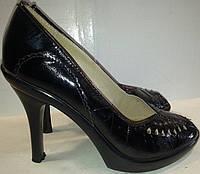 Туфли женские натуральная кожа р37 REY 32008 черные BOGI