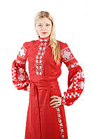 Платье вышиванка, лен, этно