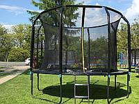 Батут для детей Exclusive 312 см. 10FT с внутр. сеткой и лестницей