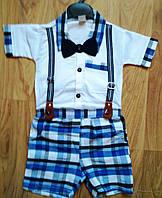 Костюм рубашка + шорты Бабочка Подтяжки  Bircan Bebe
