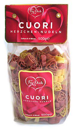 """Цветные макароны в форме сердечек """"Pasta Hearts Cuori"""" , 500 г."""