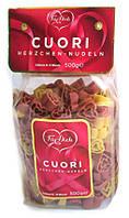"""Цветные макароны в форме сердечек """"Pasta Hearts Cuori"""" , 500 г., фото 1"""