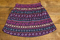 Детская летняя пестрая юбка для девочки 8-9 лет р.134