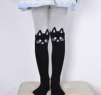 """Колготки дитячі бавовна сірі """"Кішечки"""", фото 1"""