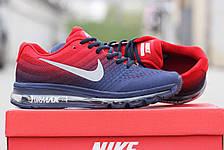 Мужские кроссовки NIKE AIR MAX 2017 синие с красным, фото 2
