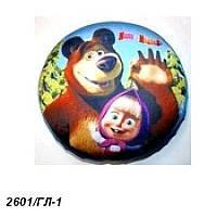 Антистресс-подушка 2601/ГЛ-1 голубая, диаметр 22 см( Ч )