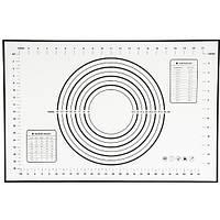 Черный силиконовый коврик для теста и мастики, выпечки 40х60 см