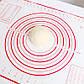 Красный силиконовый коврик для теста и мастики, выпечки 40х60 см, фото 3