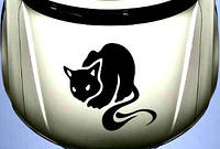 Виниловая наклейка на авто - на капот(кошка)