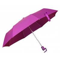 Зонт складной автоматический, ручка пластик, розовый, от 10 шт.