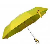 Зонт складной автоматический, ручка пластик, желтый, от 10 шт.