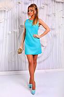 Платье. Ткань - коттон-стрейч. Рост модели 1,74. В комплекте декоративная подвеска. 3 цвета апро№171-308