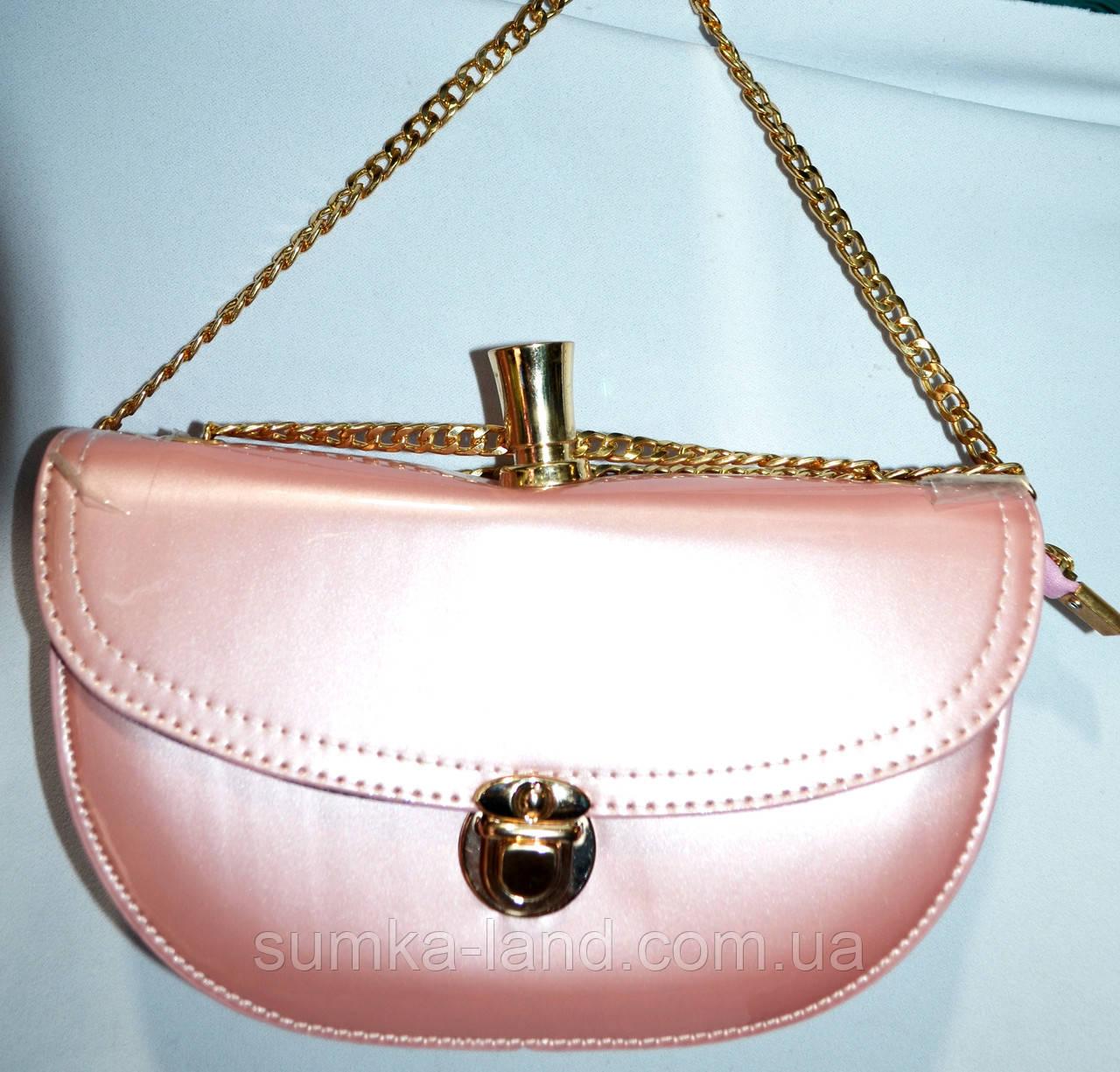 Женские клатчи и сумочки на плечо (РОЗОВЫЙ - В - ЛАКЕ)