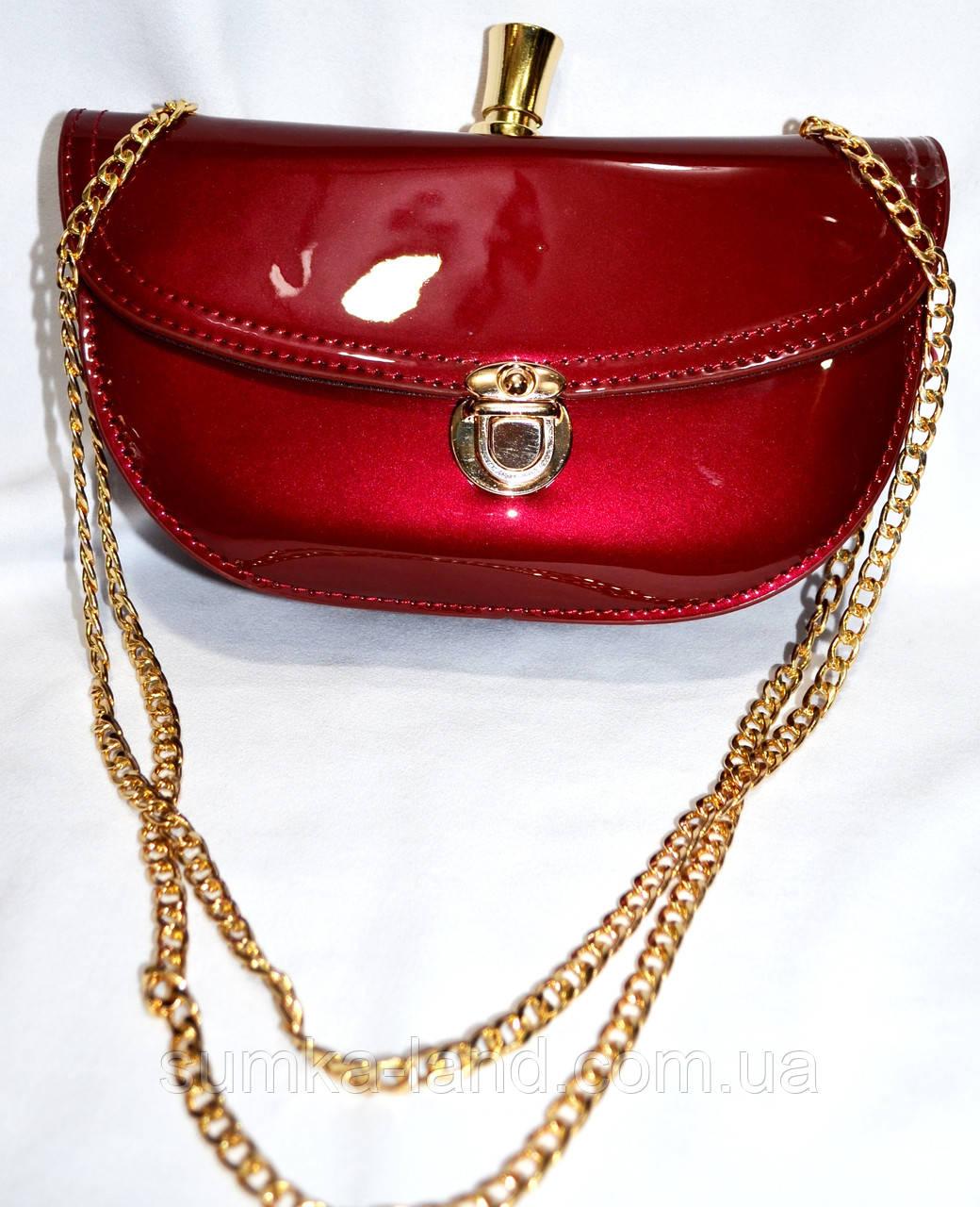 Женские клатчи и сумочки на плечо (КРАСНЫЙ - В - ЛАКЕ)