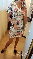 Платье летнее Ткань шелк эко Отлично сидит, нежное, приятное, много расцветок сопт№ 159-175
