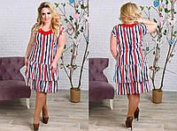 Женское яркое платье с рюшами батал. Ткань: стретч евро шёлк. Размер: 50; 52;54;56.