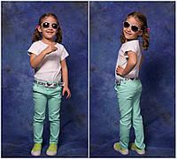 Джинсы мальчик-девочка  высокого качества турецкий стрейч джинс, много цветов ,пояс в комплекте евлад№824