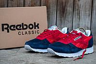 Мужские кроссовки Reebok Classic 1 (Рибок Классик) красно-синие