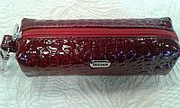 Ключница красная,кожаная лаковая (Desisan).