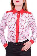 Блуза с длинными рукавами для девочек