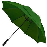 """Зонт-трость """"антиветер"""", купол 133 см, темно-зеленый, от 10 шт"""