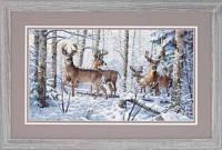 Набор для вышивки крестом Зима в лесу