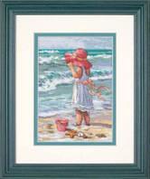 Набор для вышивки крестом Девочка на берегу