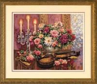 Набор для вышивки крестом Романтичный букет