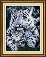 Набор в алмазной технике Белая тигрица и детеныш