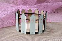 Декоративный деревянный флористический ящик/кашпо Parkan-R M - цвет Tiffany