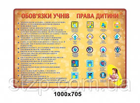 Стенд Обов'язки учнів,Права дитини - 4147
