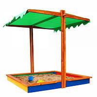 Детская песочница с регулируемой крышей 2