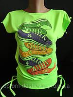 Яркие молодежные футболки с рисунком.