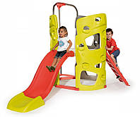 Игровые площадки «Smoby» (840201) игровой центр Скала (Climbing Tower) с горкой и трубой, длина спуска 150 см