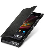 Кожаный чехол книжка Melkco для Sony Xperia L C2105 черный, фото 1