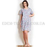 Рубашка женская для кормящих Vienetta Secret 604152 5704, Голубой