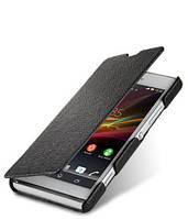 Кожаный чехол книжка Melkco для Sony Xperia SP C5303 черный, фото 1