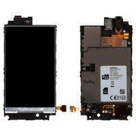 Дисплей для мобильного телефона Nokia 520 Lumia, с средней частью корпуса