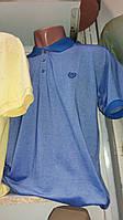 Летняя мужская футболка с воротником большого размера