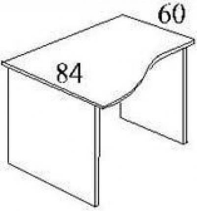 Стол письменный криволинейный БЮ107, фото 2