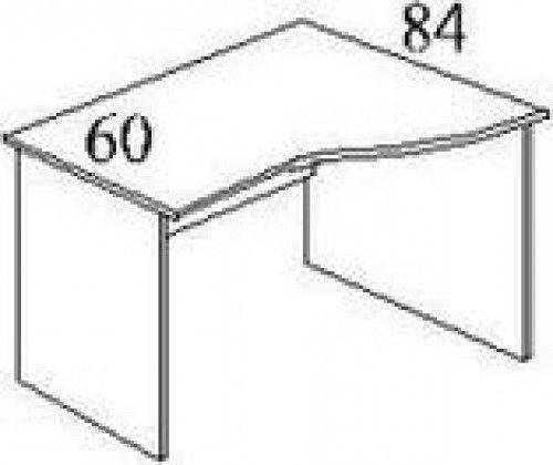 Стол письменный криволинейный БЮ110, фото 2