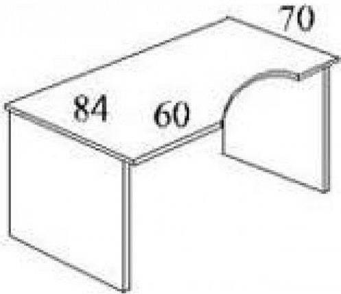 Стол письменный криволинейный БЮ113, фото 2