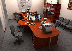 Стол письменный криволинейный БЮ116, фото 2