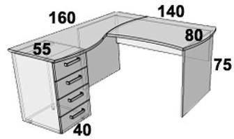 Стол ПР101.1 (левый, правый), фото 2