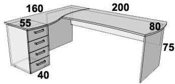Стол ПР104.1 (левый, правый), фото 2