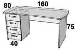 Стол ПР104.3 (левый, правый), фото 2